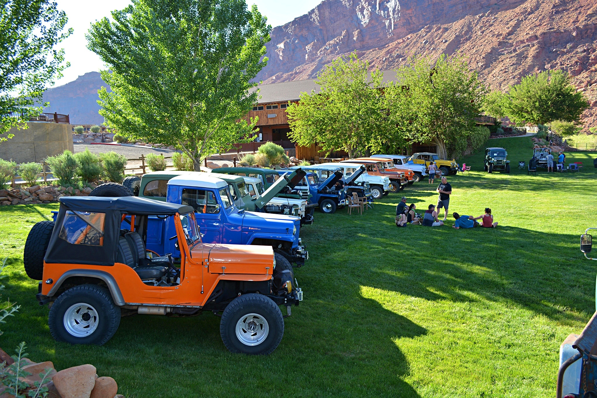 Willys wagons had the highest numbers in attendance as always, but there were many more flatfenders this year, with the CJ-3B being very popular.