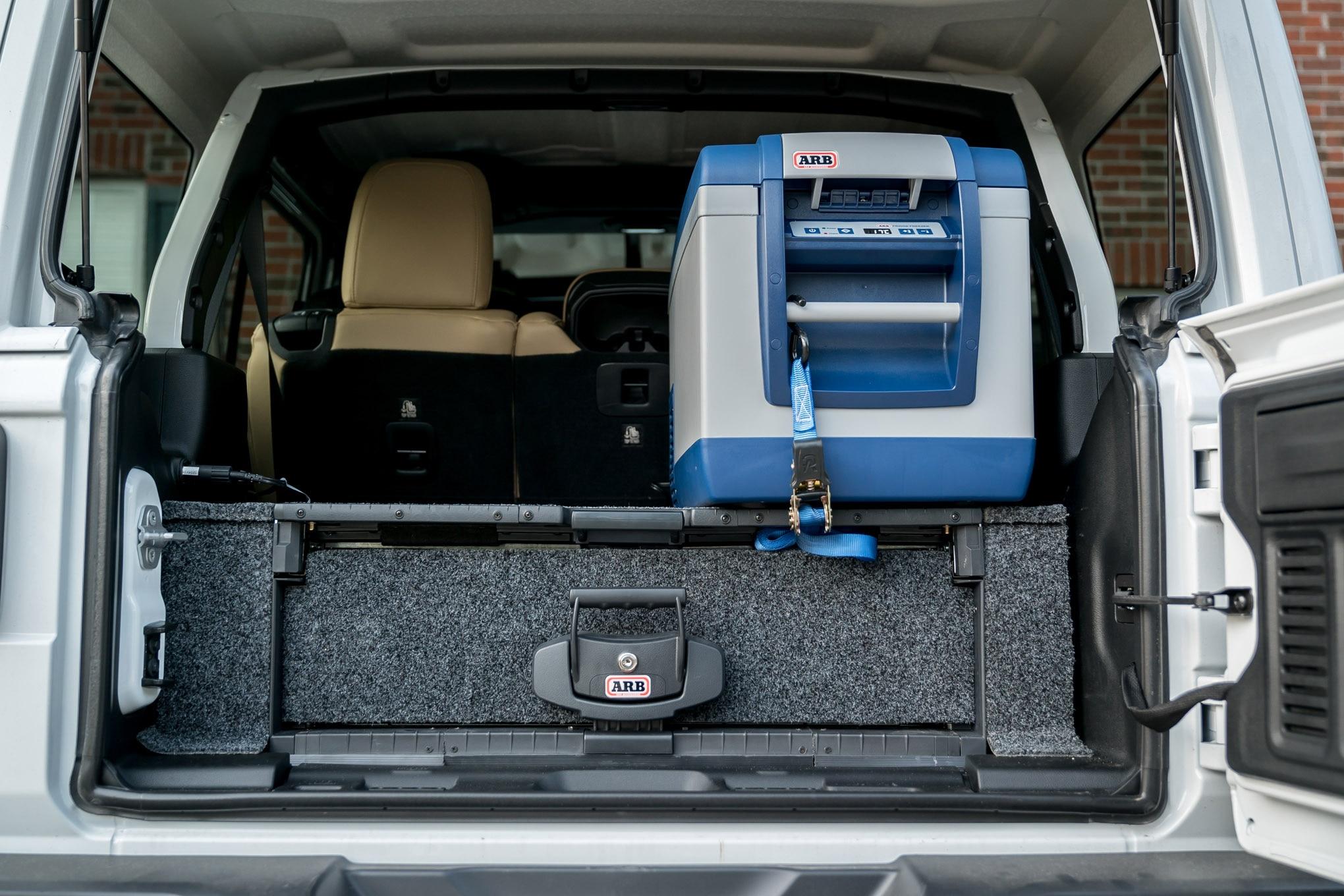 001 2018 jeep wrangler unlimited rubicon jl arb drawer system cargo organizer