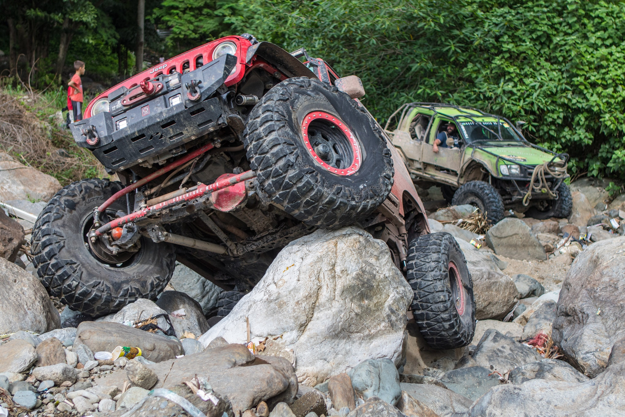 We are skeptical of running 40-inch tires on Jeep axles, but Jose Maza proved to us that they can stand up to the abuse. Of course, they have to be built right, and Jose's have RCV axleshafts, trusses, and ARB Air Lockers to make them live.