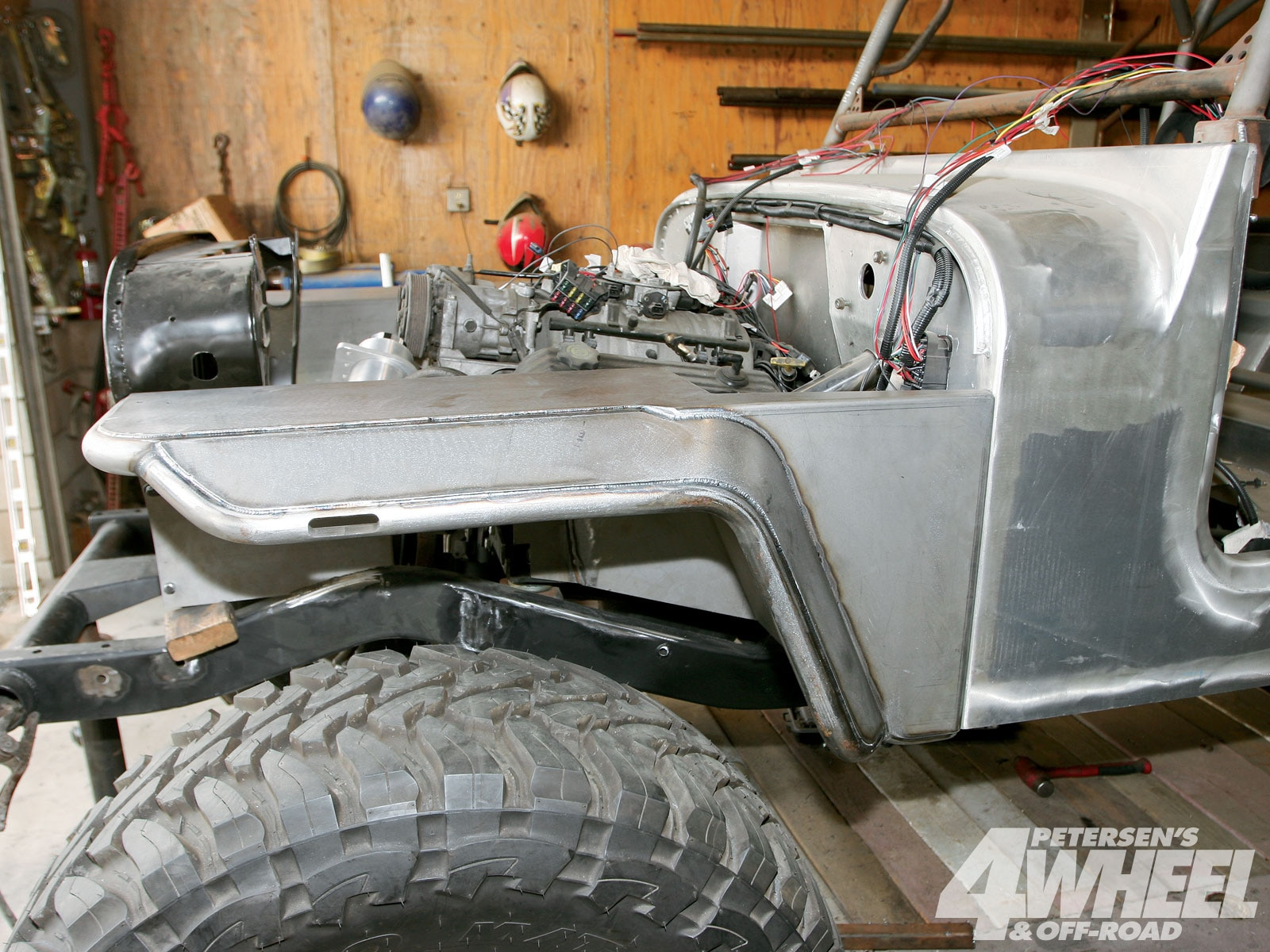 The Rock Fenders are 100 percent made in the USA and are available for Jeep CJ, TJ, LJ, and JK (JK fenders aren't available with inner fenderwells) and with or without flares.