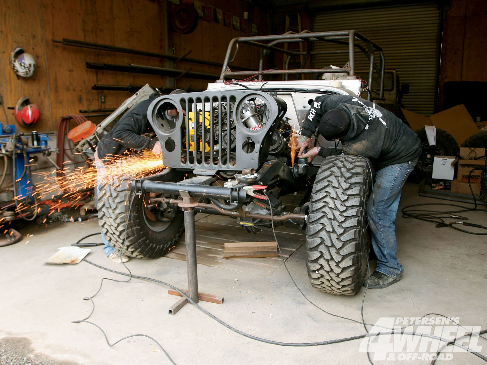 131 1005 08+jeep cj8 scrambler rock fenders suspension+frame grind