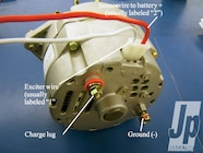 Once the Jeep is running, you will need the alternator hooked up to
