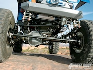 The Dana 60 front axle was installed using a DCU full-width axle kit