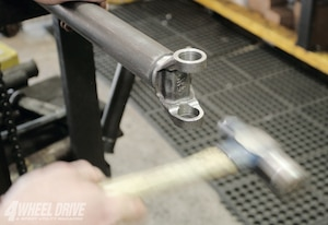 This driveshaft is being built with 1310 series U-joint components