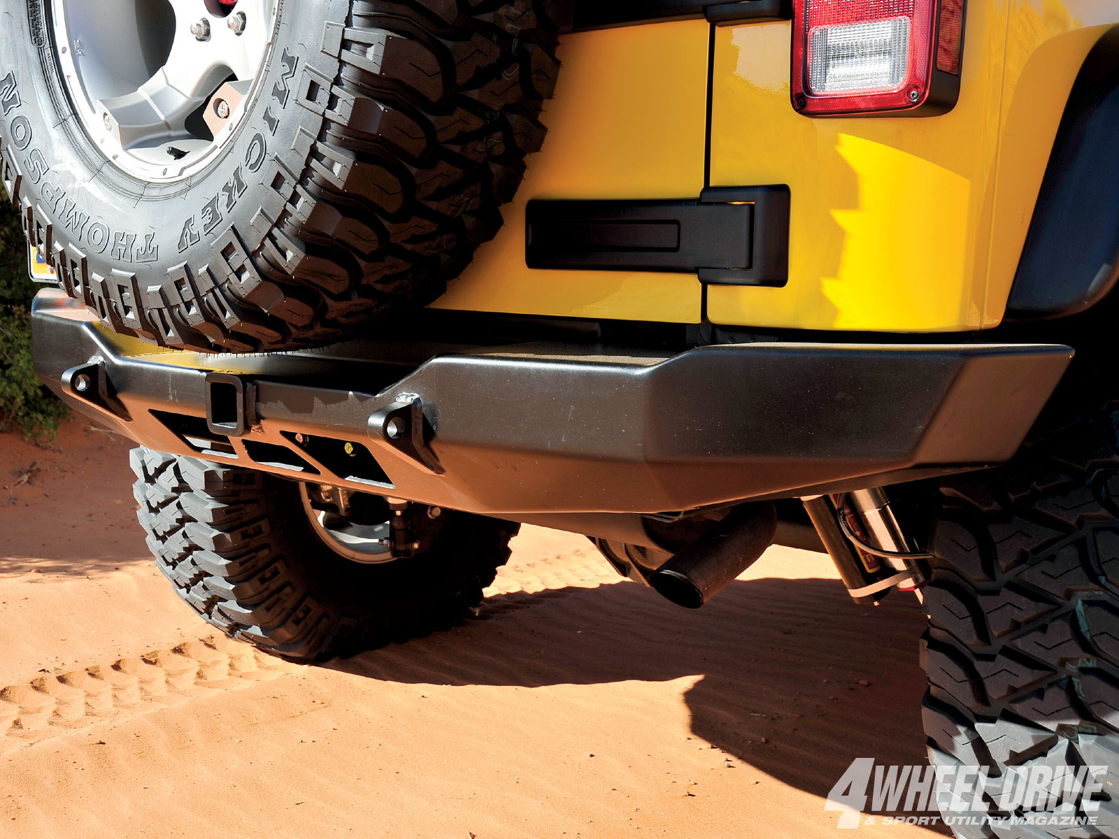 1101 4wd 13+2008 jeep wrangler JK rubicon+hanson enterprises rear bumper