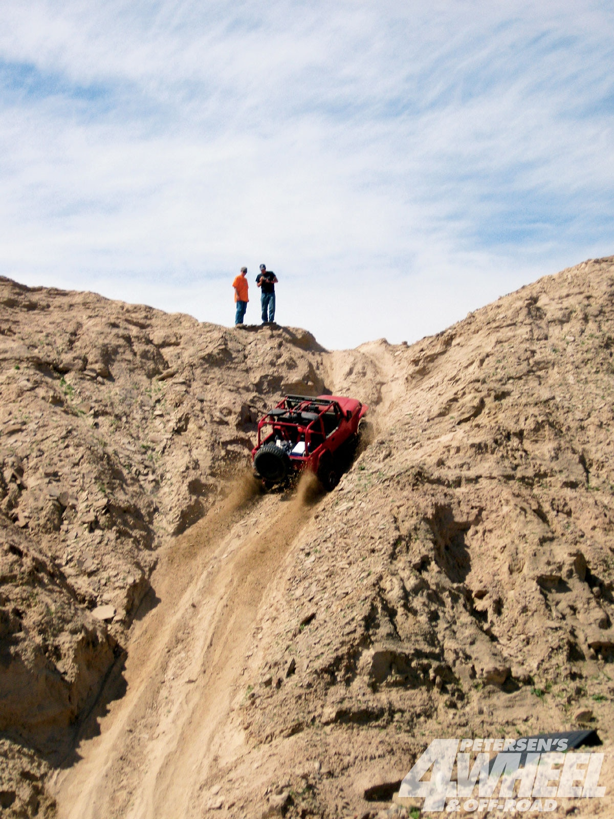 There are lots of steep hills, and the climbs are a great way to test a four-wheeler's climbing fortitude. Some of the hillclimbs are downright scary.