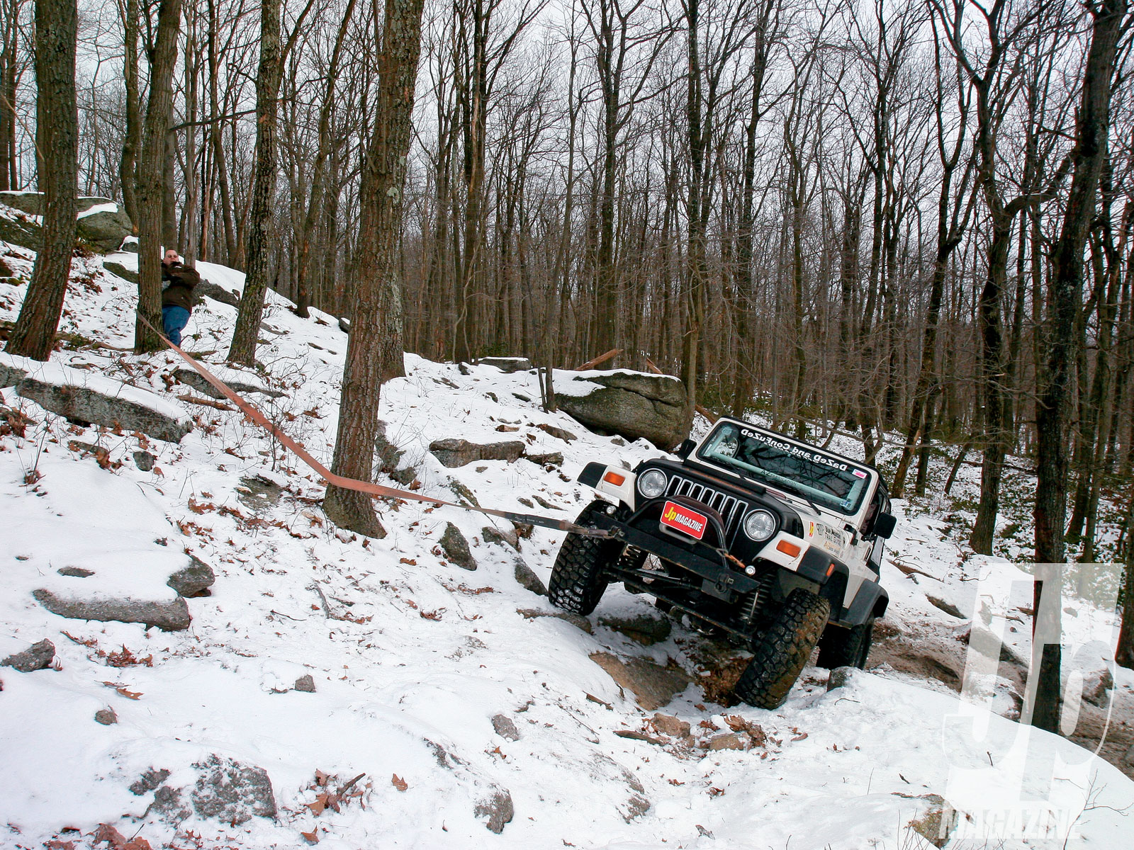 154 1103 05 o+154 1103 snow crawling rausch creek off road park+1999 jeep wrangler tj winching