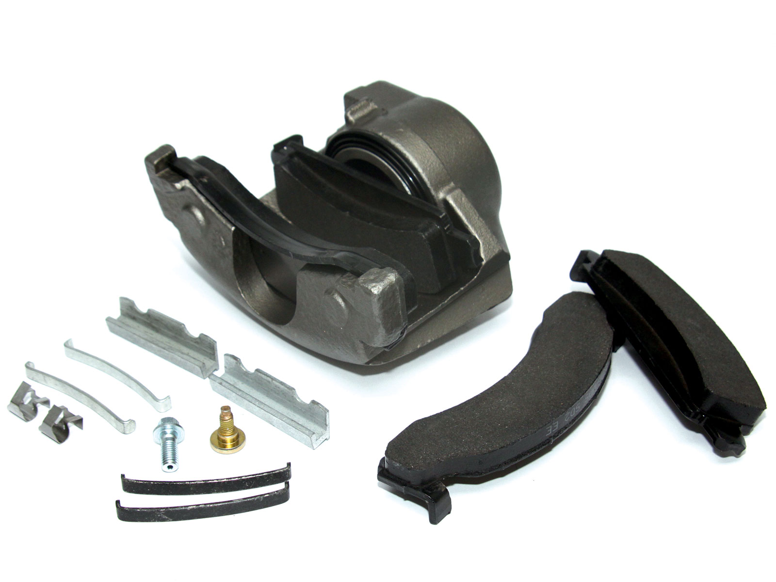 ORD does not include new brake rotors or calipers with their kit because these items are readily available at just about any local auto parts store or wrecking yard. Due to the high weight of these items, it simply does not make sense to ship them by mail. This helps keep the cost of the conversion down. To complete the conversion, the customer must source a pair of brake rotors from a '73-'87 GM 3/4-ton front axle and calipers from a '73-'87 1/2- or 3/4-ton front axle. We purchased this set recently from Boyce Equipment in Ogden, Utah.
