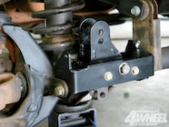 The track bar mount attaches to either the Dana 30 or Dana