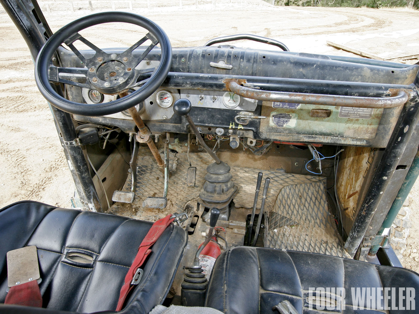 129 1011 Roger King 1964 Dodge Power Wagon Interior Cabin Shot