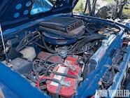 Proving that chrome and crawlers can mix is this small-block Chevy