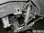 The FJ Cruiser uses a four-link rear suspension design