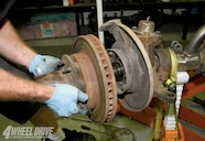 The brake calipers, locking hubs, and associated parts were all