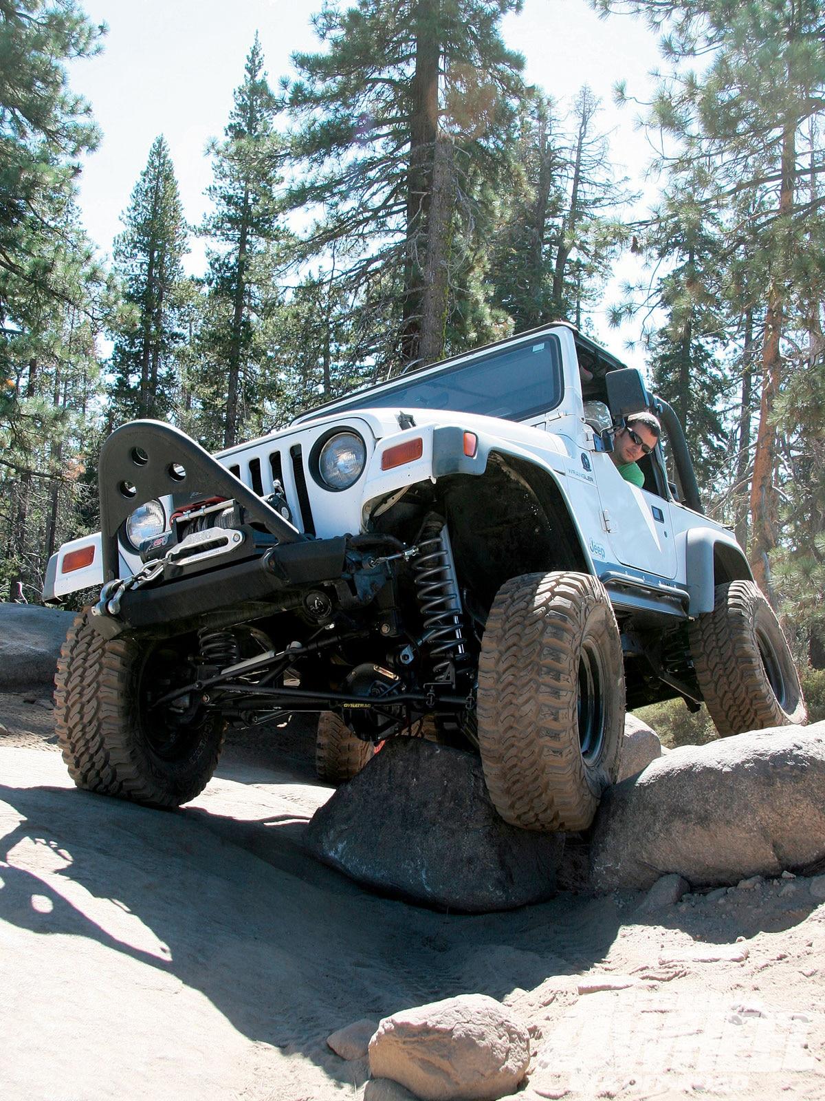 1997 jeep wrangler suspension lift - rock crawling - photo 01
