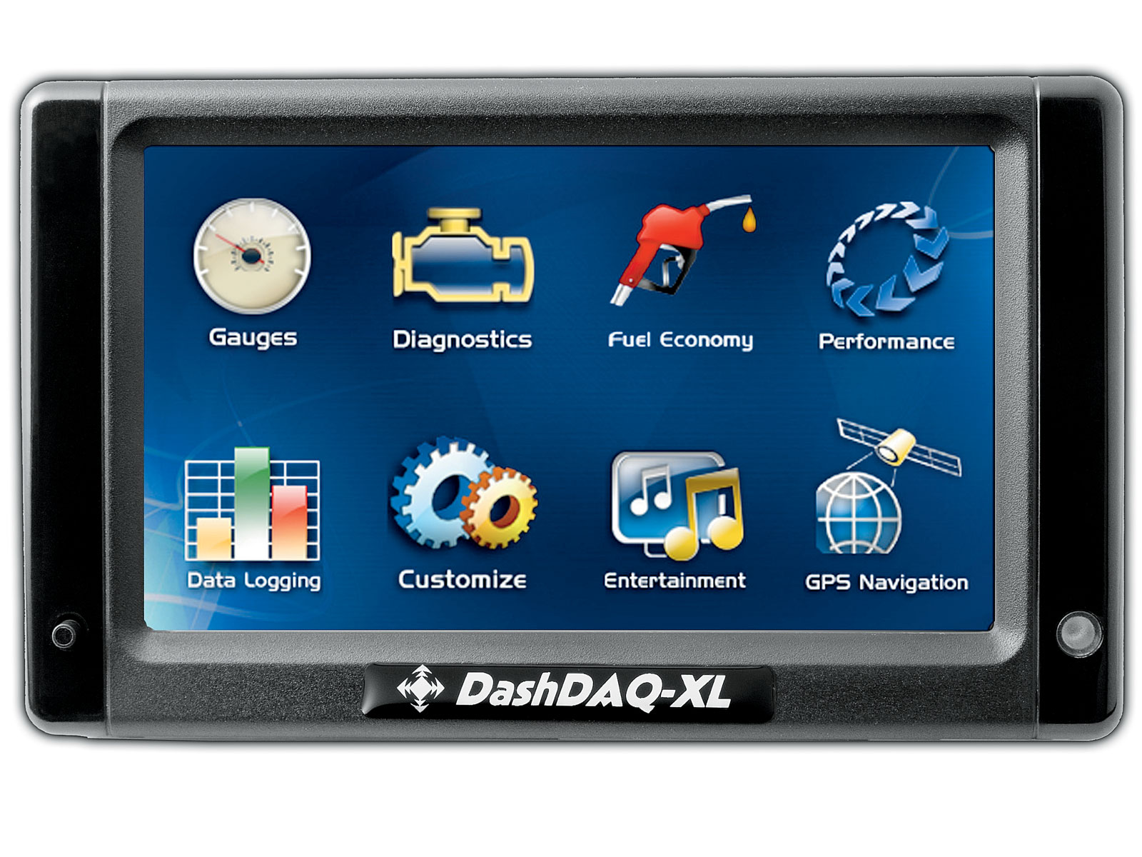 1004or 05 o+drew technologies dashdaq xl+main menu screen