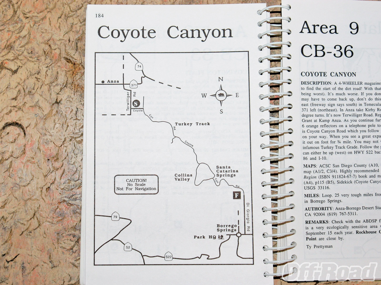 1006or 11 +navigate without gps map compass+coyote canyon map