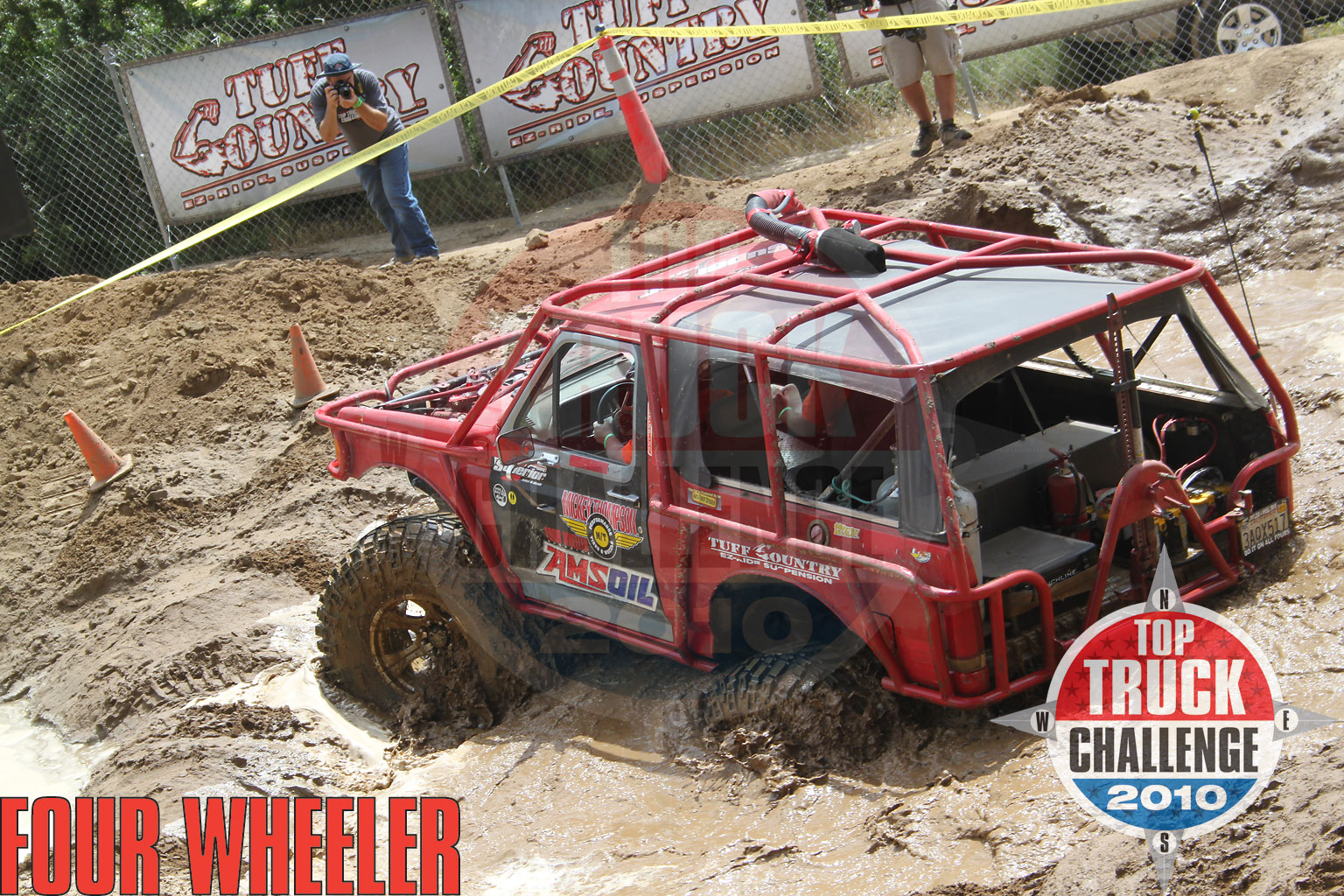 2010 Top Truck Challenge Obstacle Course Darren Sinkey 1989 Ford Bronco