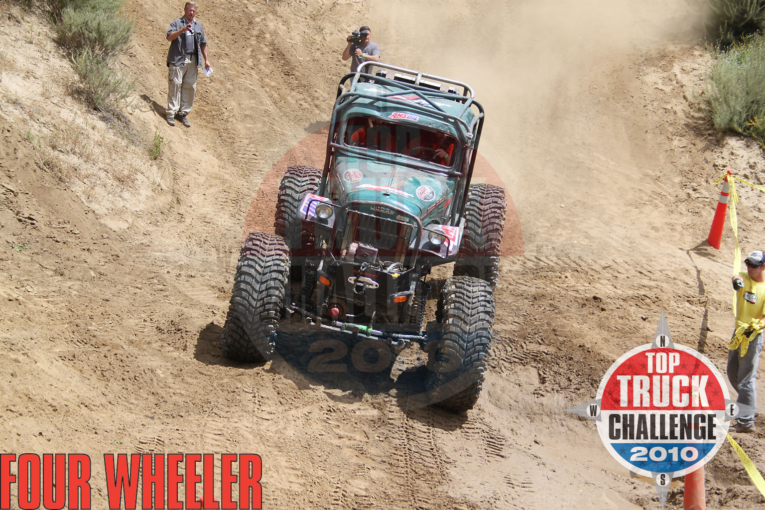 2010 Top Truck Challenge Obstacle Course Roger King 1964 Dodge Wm300 Power Wagon