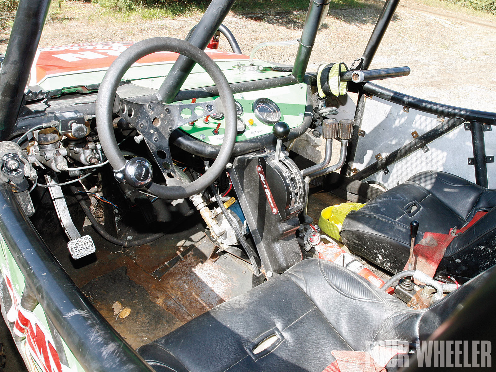 Josh Hall Suzuki Samurai Buggy Interior Shot