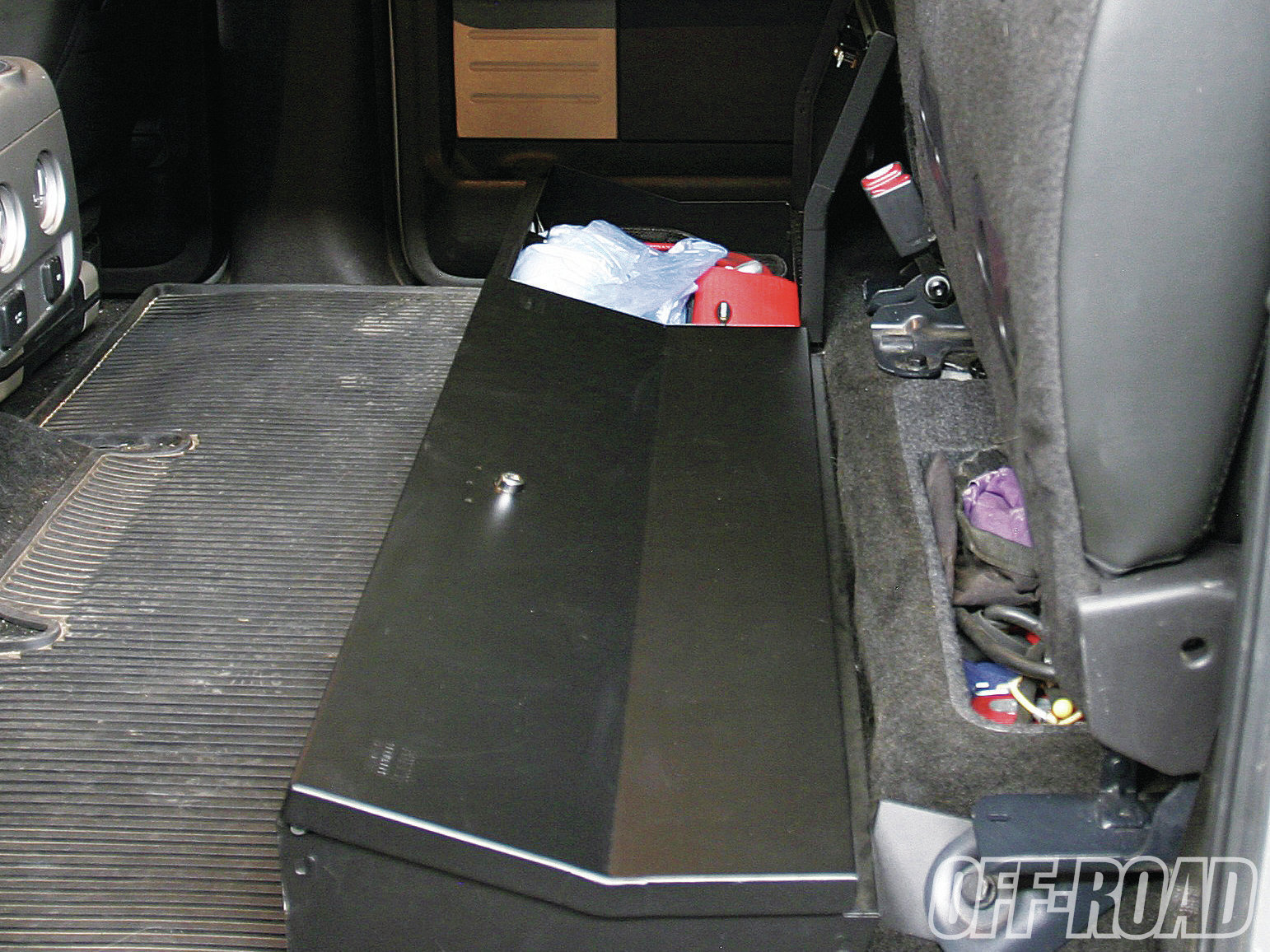 1206or 04+underseat security for your raptor tuffy under seat lockbox+security box bolted down