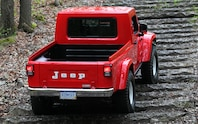 Jeep J 12 Concept rear view going up steps