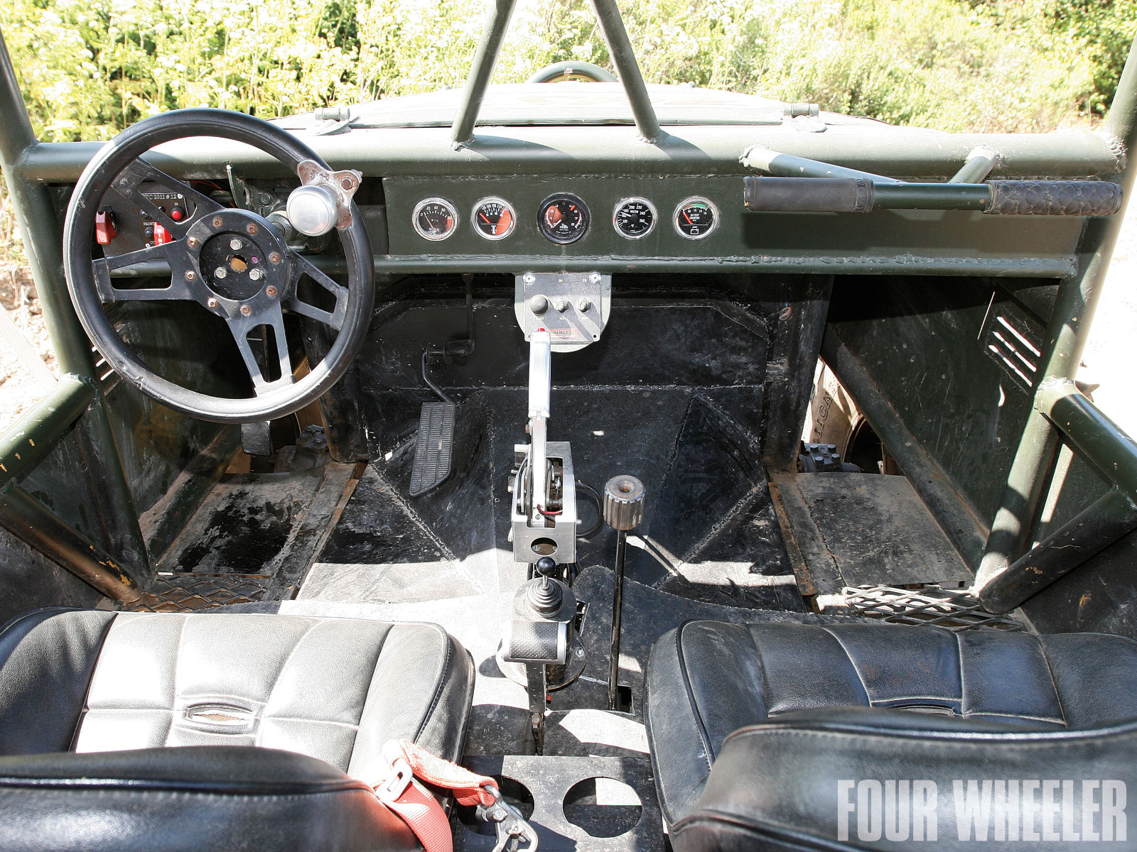 Brooke Spencer Ron Adams 2009 Custom Fj40 Buggy Interior Shot