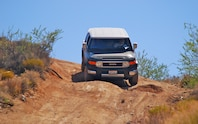 Toyota FJ Cruiser front end in motion