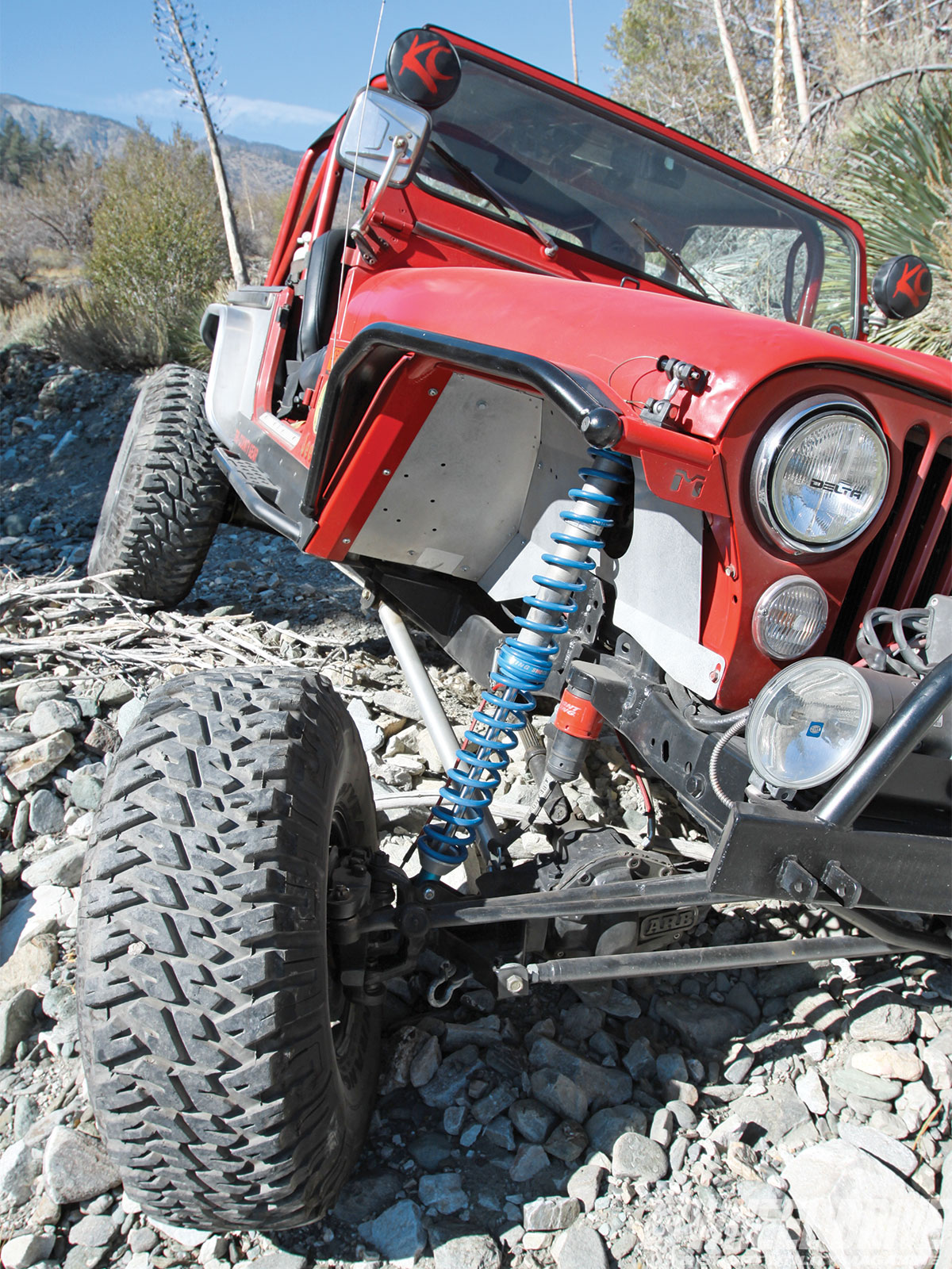 1306 4wd 02+1986 jeep cj 7+king remote coilovers