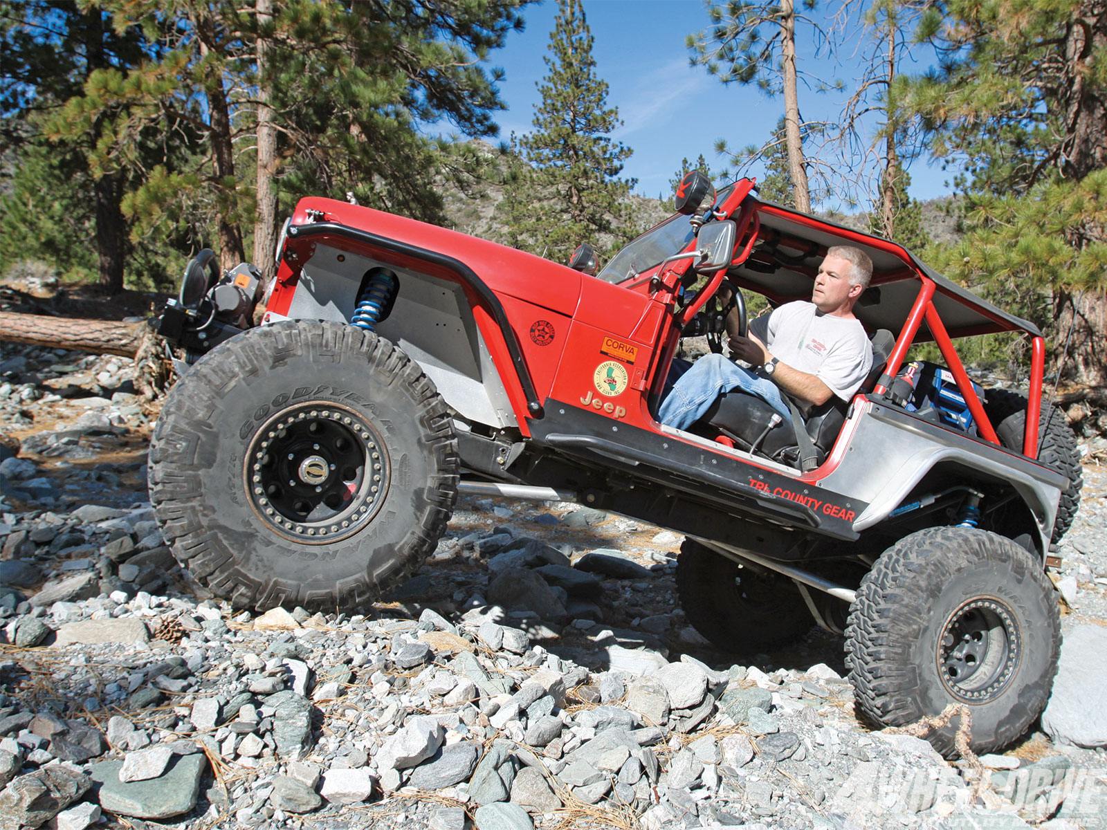 1306 4wd 12+1986 jeep cj 7+rock crawling