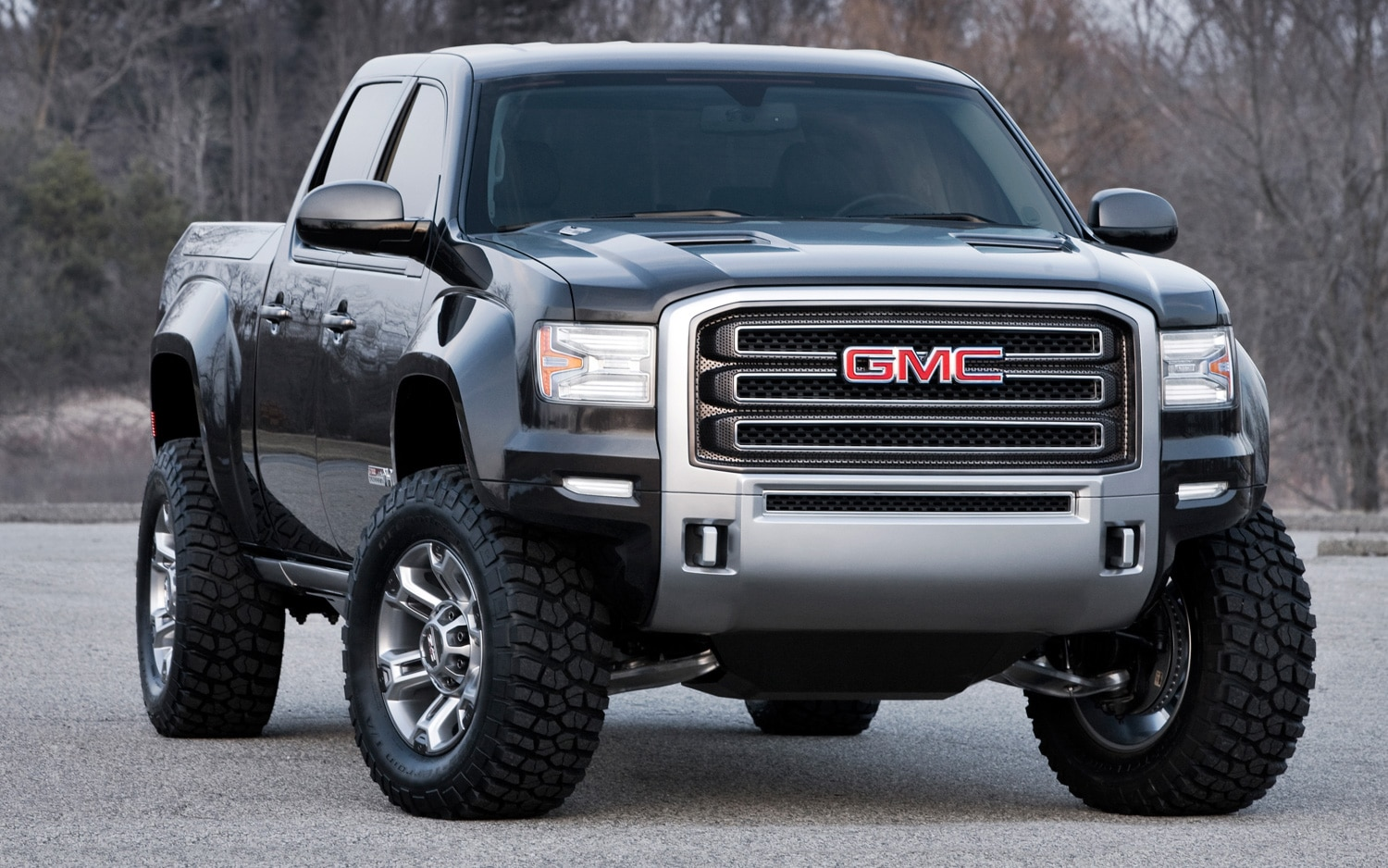 gmc sierra all terrain hd concept front three quarters view