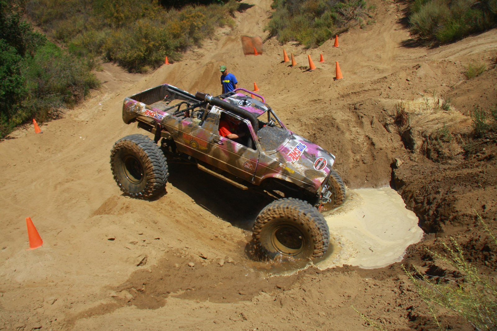 top truck challenge 2013 obsticle course 043 1981 volkswagen rabbit pickup