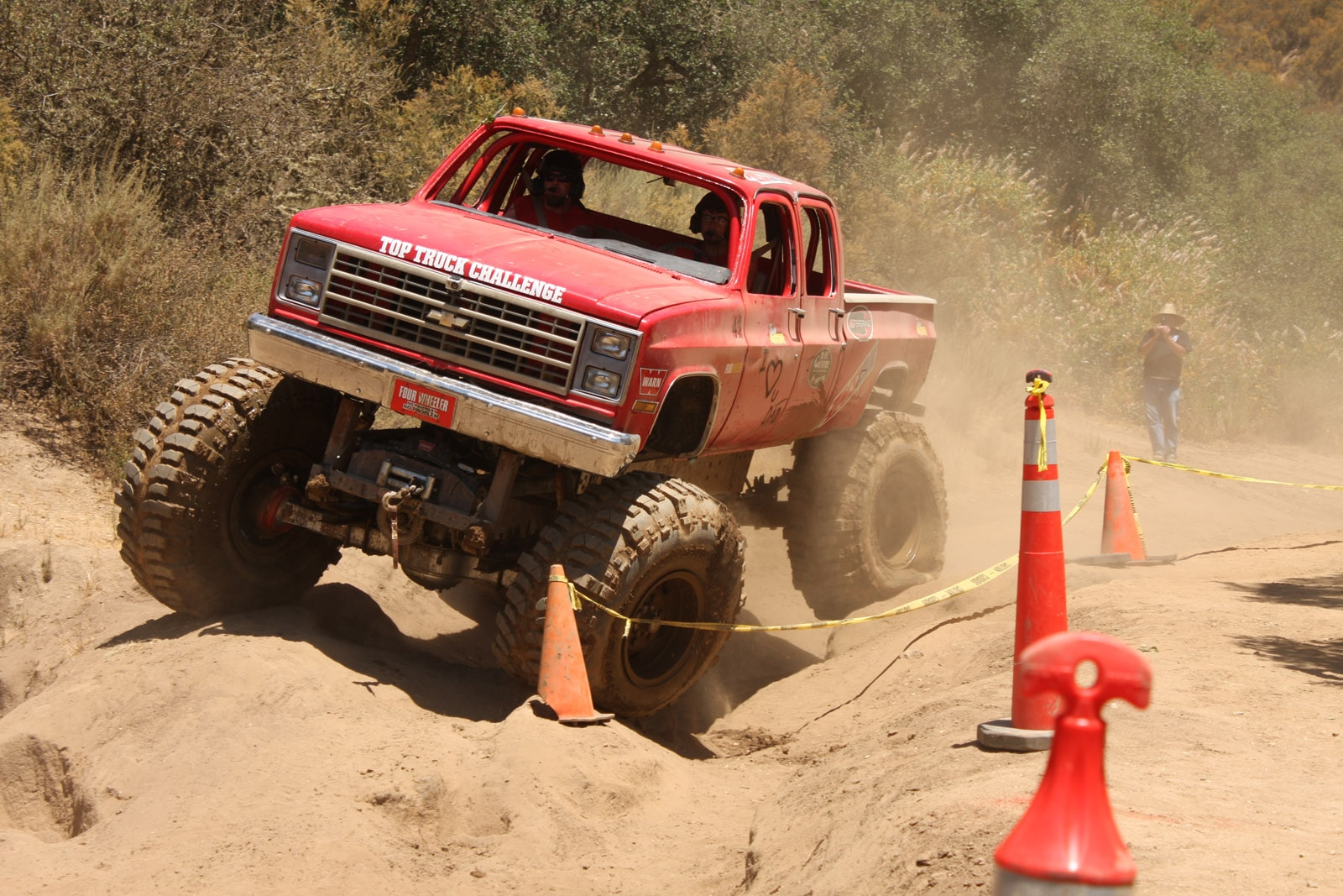 top truck challenge 2013 obsticle course 139 1989 chevy k30 crew cab