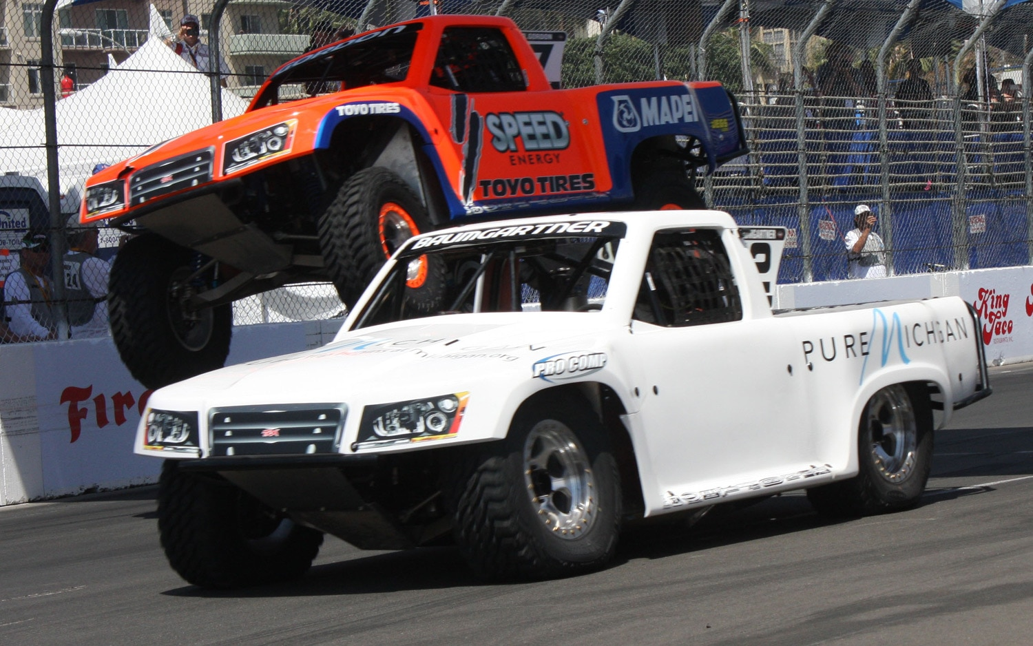 1304OR 01+Robby Gordon SST Stadium Super Trucks 2013 Long Beach Grand Prix Nick Baumgartner