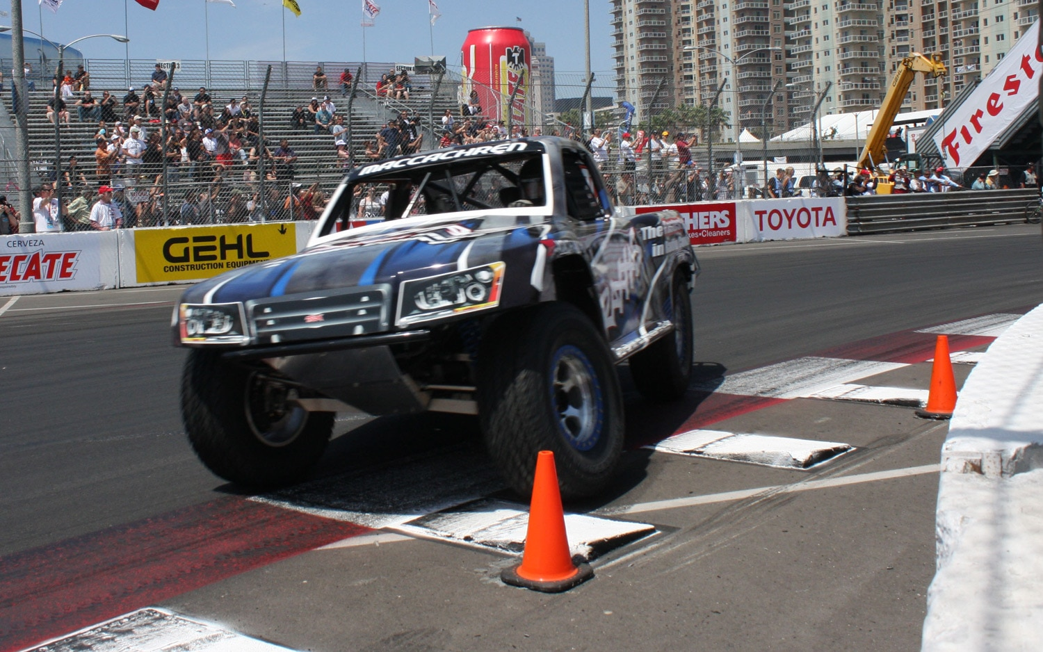1304OR 06+Robby Gordon SST Stadium Super Trucks 2013 Long Beach Grand Prix Rob MacCachren 2