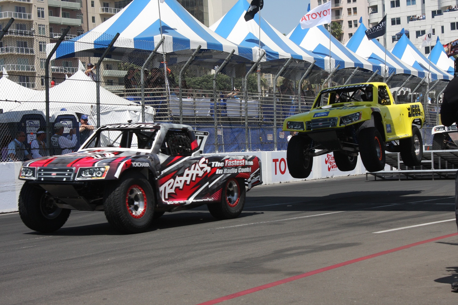 1304OR 08+Robby Gordon SST Stadium Super Trucks 2013 Long Beach Grand Prix Ricky Johnson