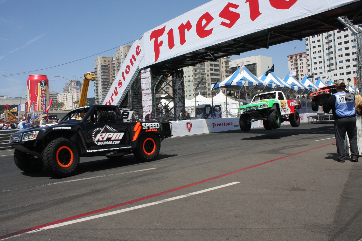 1304OR 10+Robby Gordon SST Stadium Super Trucks 2013 Long Beach Grand Prix Lalo Laguna