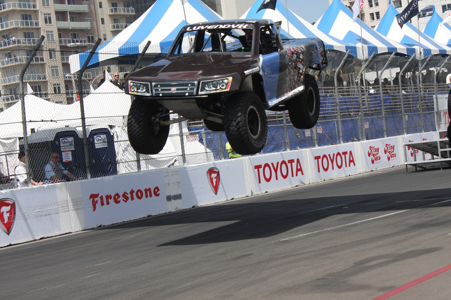1304OR 16+Robby Gordon SST Stadium Super Trucks 2013 Long Beach Grand Prix Arie Luyendyk Jr