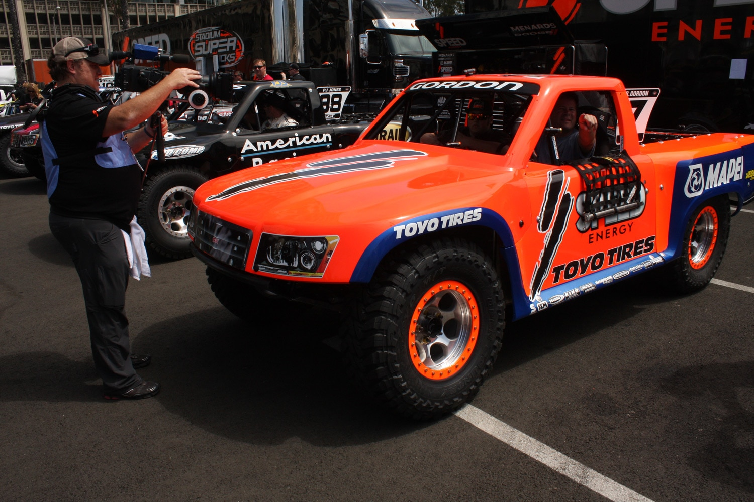 1304OR 22+Robby Gordon SST Stadium Super Trucks 2013 Long Beach Grand Prix