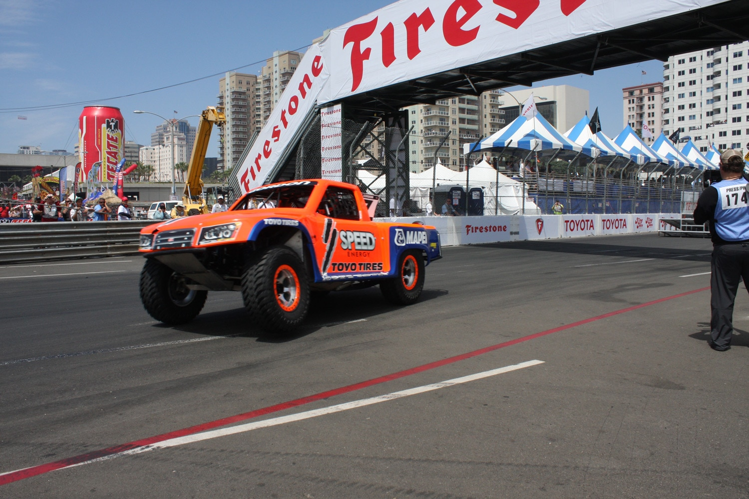 1304OR 39+Robby Gordon SST Stadium Super Trucks 2013 Long Beach Grand Prix