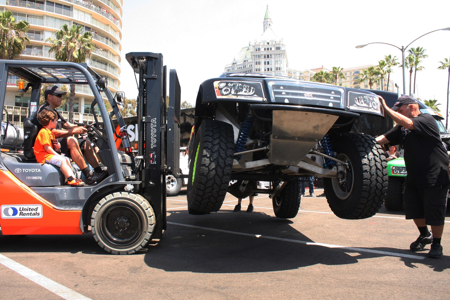 1304OR 46+Robby Gordon SST Stadium Super Trucks 2013 Long Beach Grand Prix