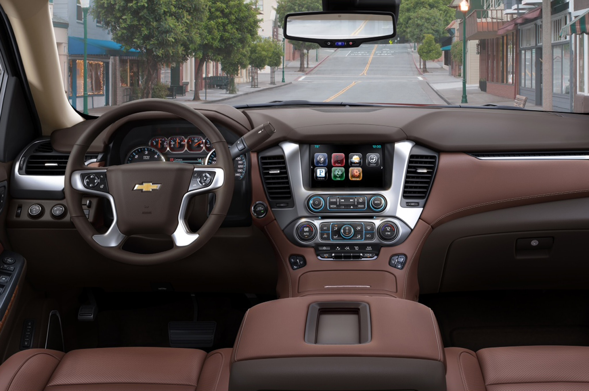2015 Chevrolet Tahoe dash view