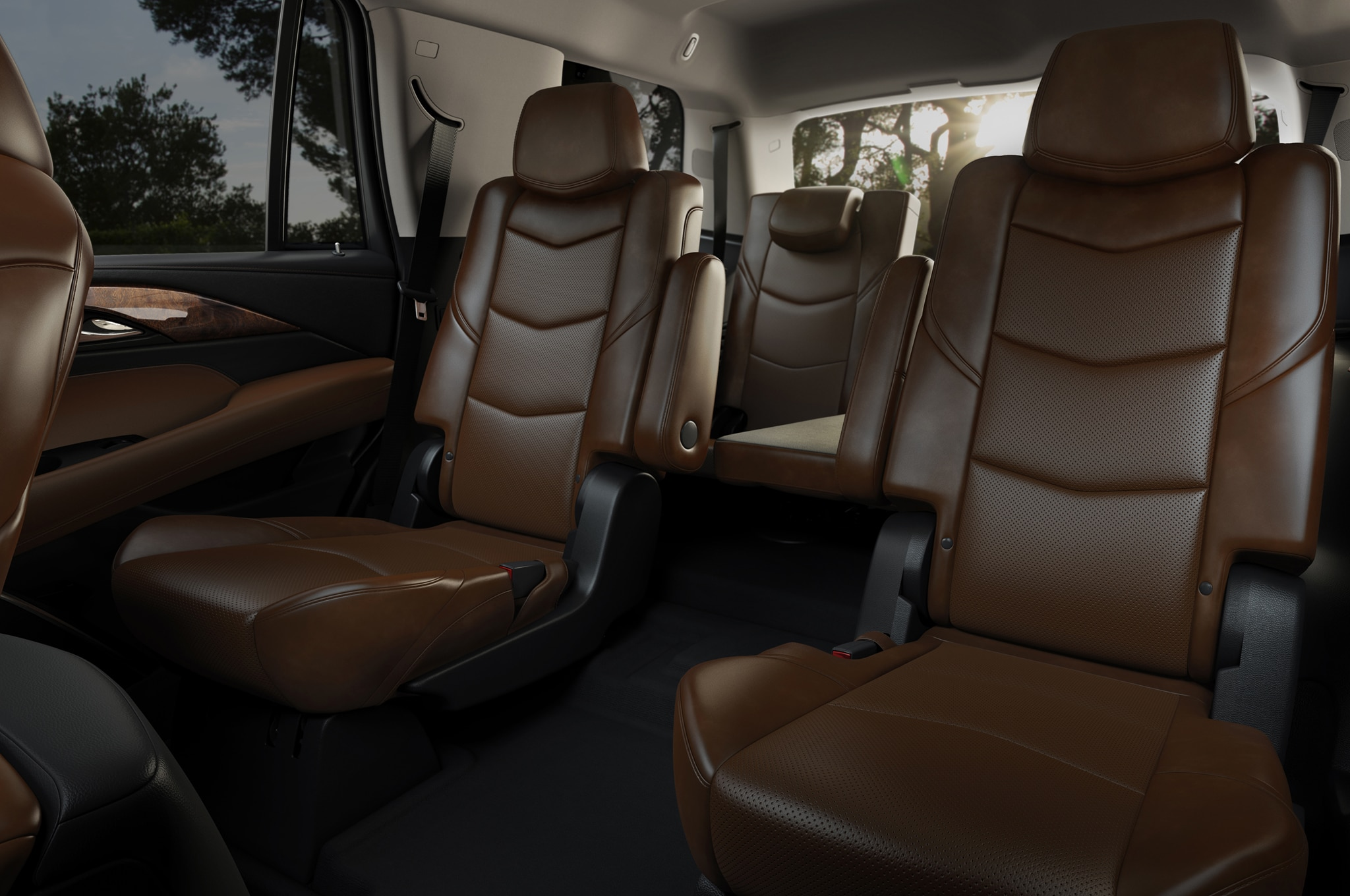 2015 Cadillac Escalade back seats 01