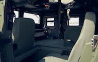 8 AM General M1116 interior