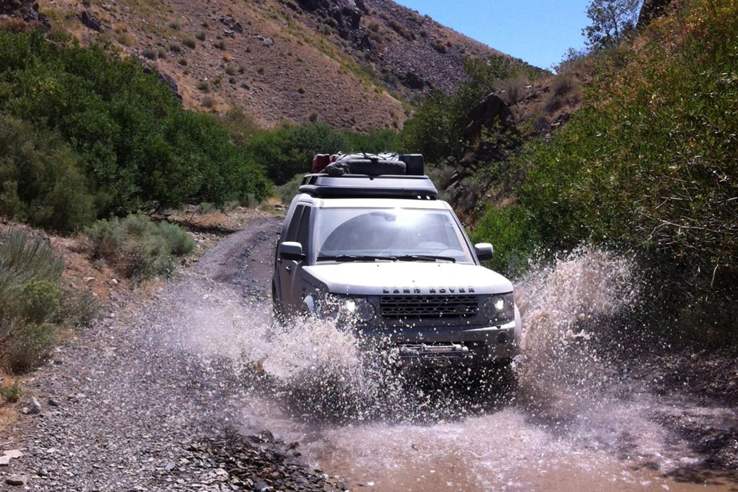 2013 Land Rover LR4 Land Rover Expedition America  8  splashing through mud