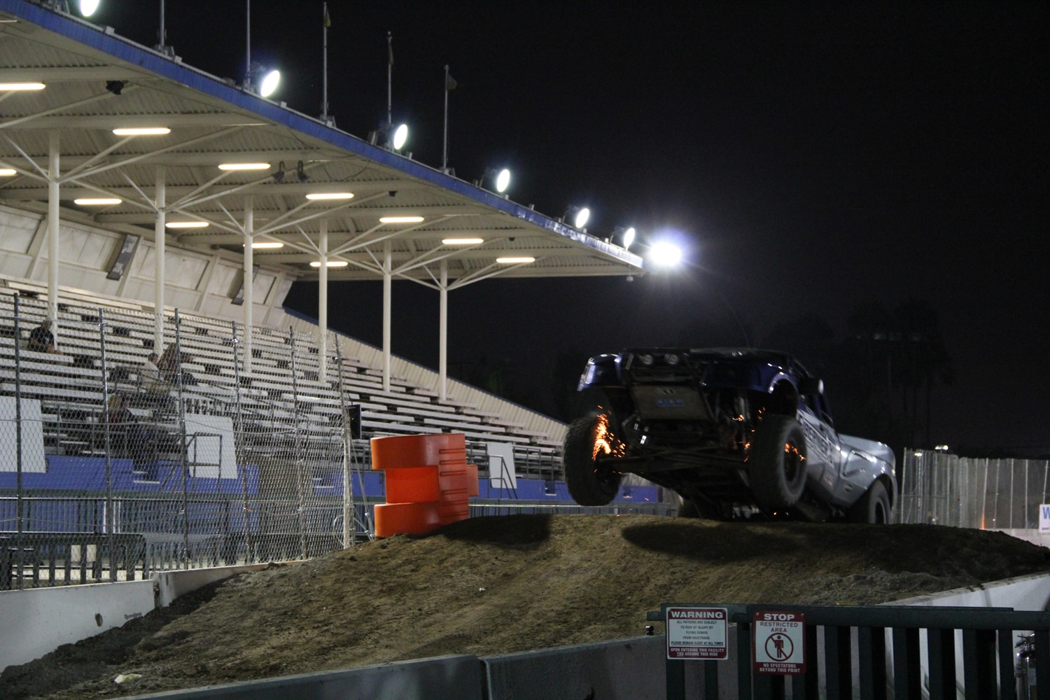 Stadium Super Trucks at SSSS  6  sparks from rotors.JPG