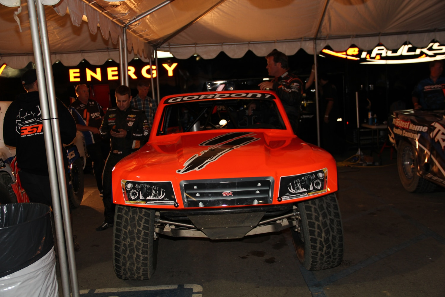 Stadium Super Trucks at SSSS  10  Robby Gordon SST Truck in pits.JPG