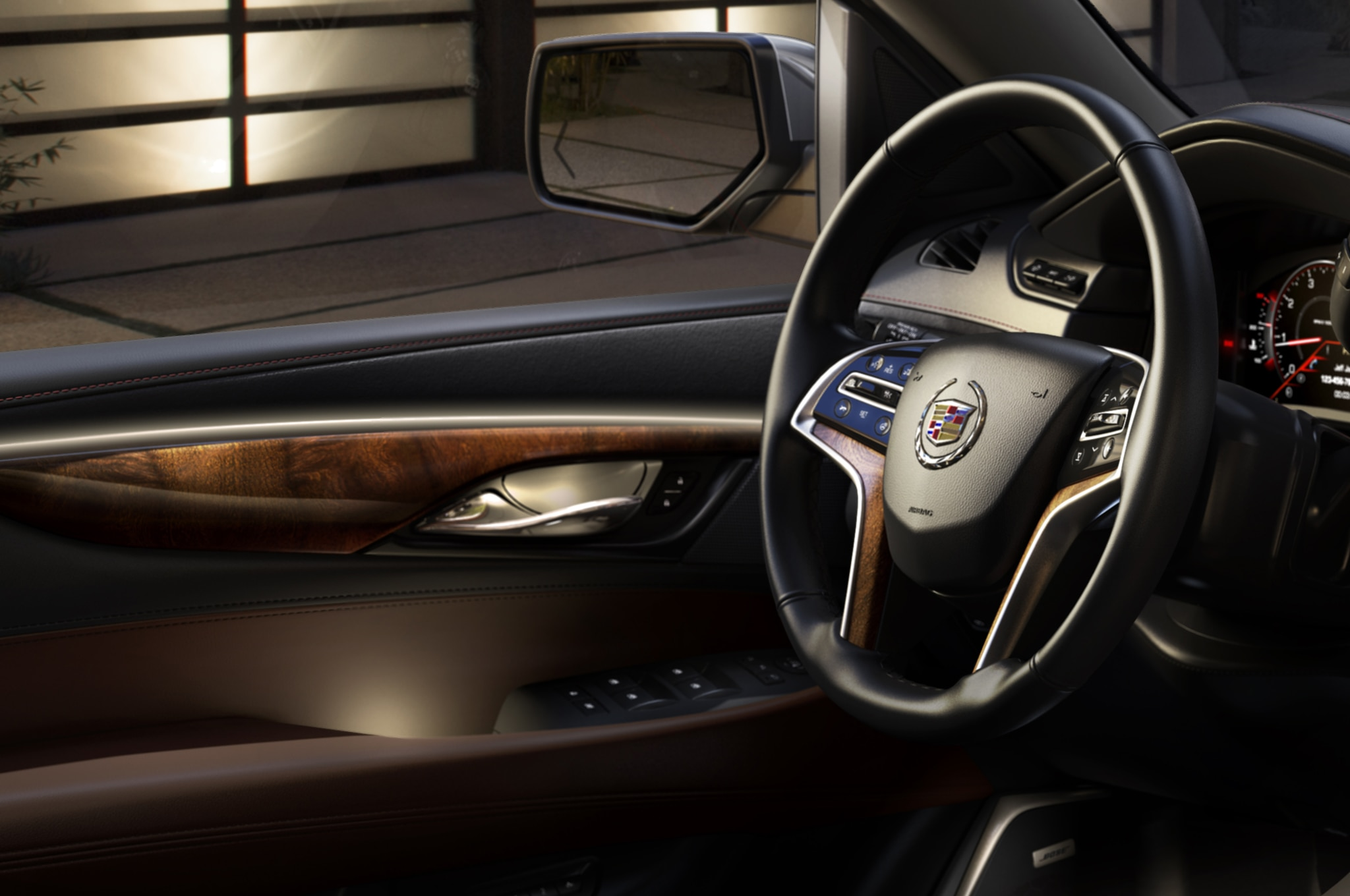 2015 Cadillac Escalade steering wheel view
