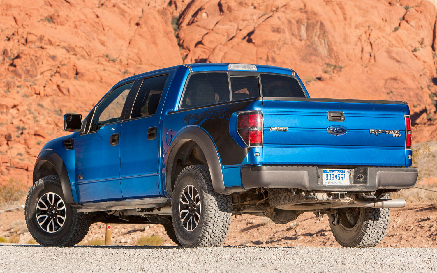 2012 Ford F 150 SVT Raptor SuperCrew rear view