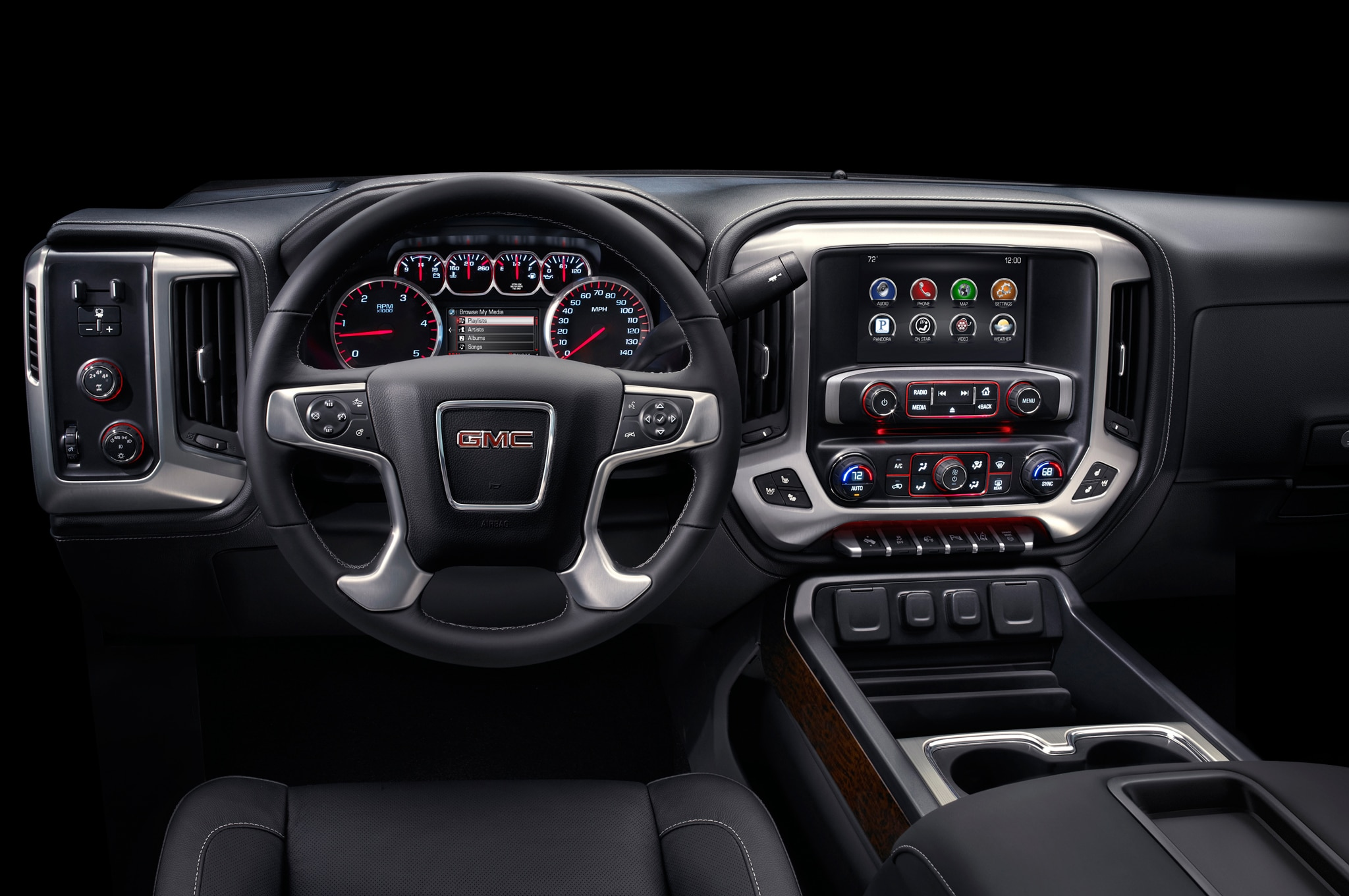2015 GMC Sierra 2500HD dash