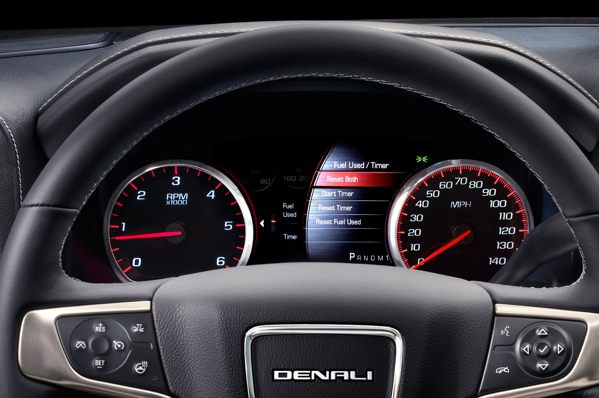 2015 GMC Sierra Denali 2500HD dash quages